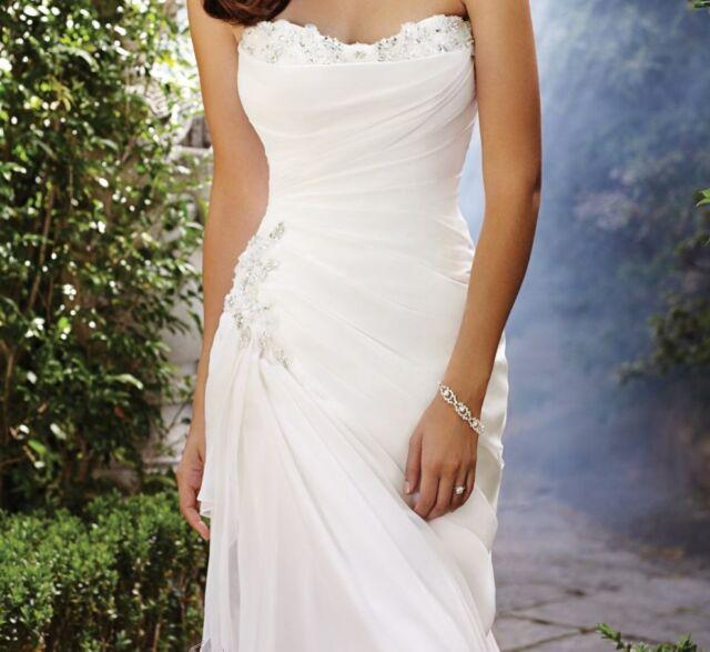 Sophia Tolli Lace Up Chiffon Wedding Dress Ivory Style Y21374