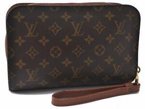 Authentic Louis Vuitton Monogram Orsay Clutch Hand Bag M51790 LV B5525