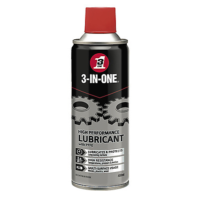 WD-40 44613/03 3 in One Professioanl High Performance Lubricant With PTFE 400ml