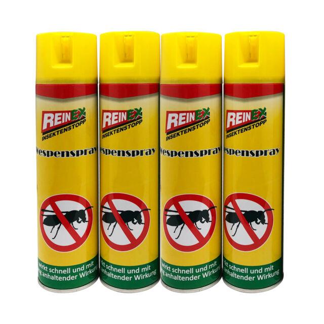 4er Set Wespenspray je 400ml Wespennest Bekämpfung Wespen Nest Spray Abwehr