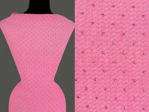 50cm Stoff STRICKSTOFF JERSEY Ziegel Muster rosa 10,80 €//m