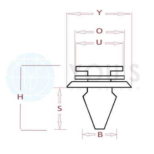 7701056846 20 x you S ORIGINALE ornamentali BARRE STAFFE di montaggio Clip per Renault