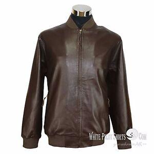 738ba8a0f3c Mens Leather Jacket Club Monaco Polo Rib Bomber Simple style Gents ...