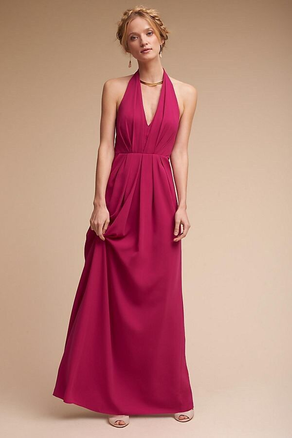 Anthropologie BHlDN Rasa Dress Wild pink Gown By Jill Stuart Size 14