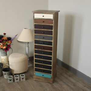 Tallboy Hoch Dunn Holz Vintage Stil Kommode Wohnmobel Aufbewahrung