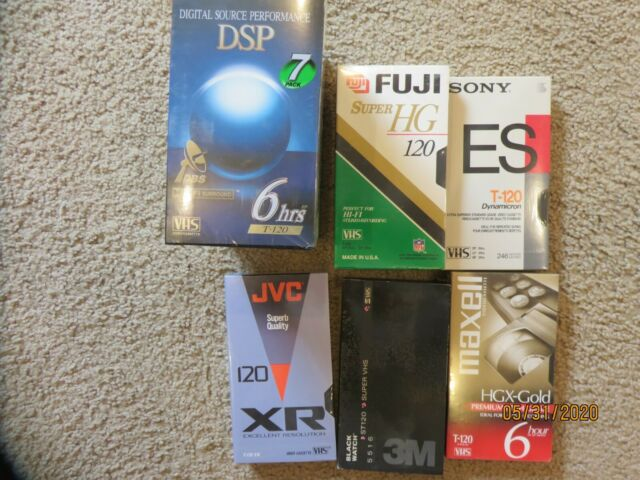 Minute VHS Tapes Sony T120VR 5-Pack 120