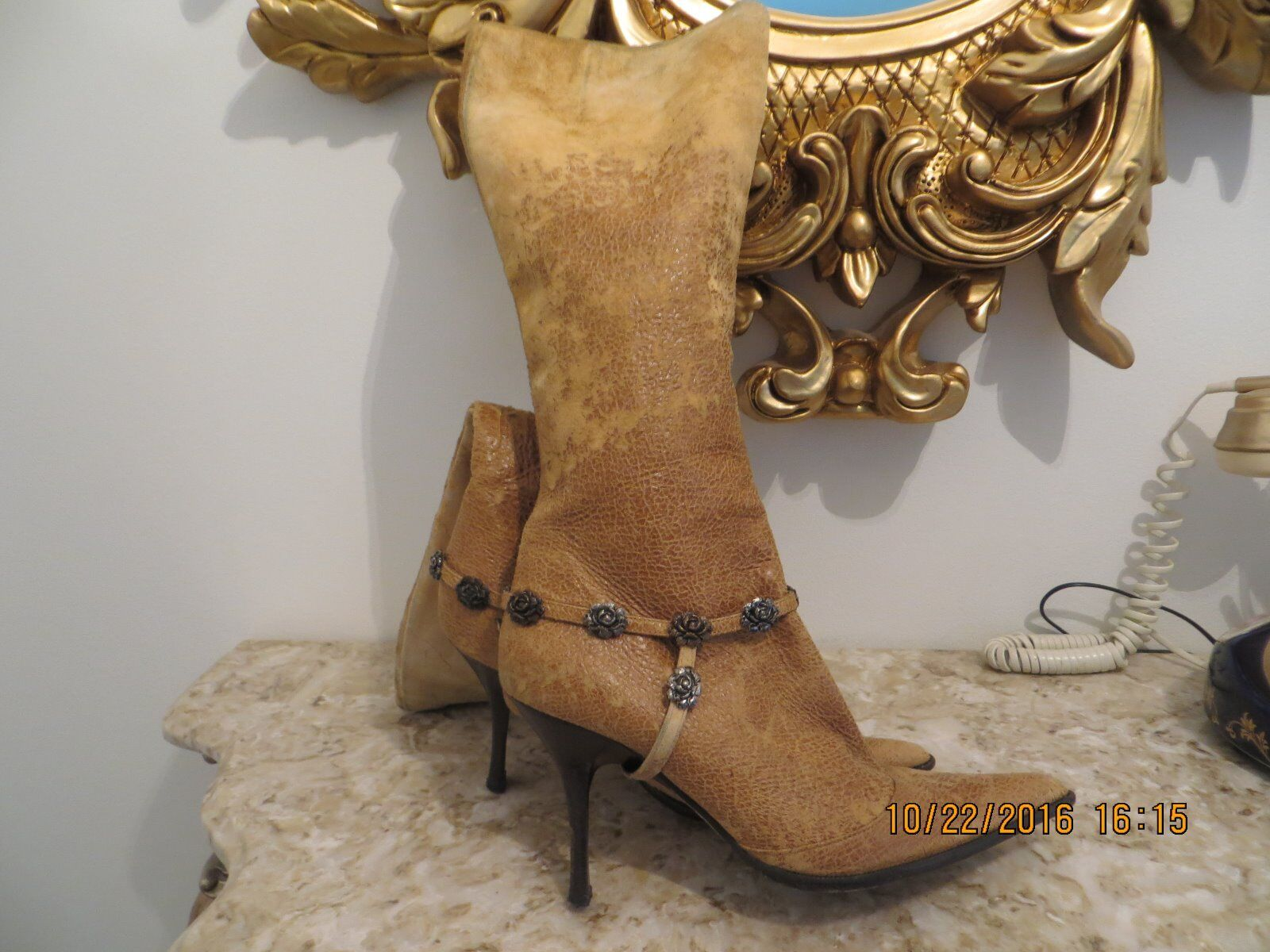 Beautiful Cavalli Leather Stiefel IT37 US 7