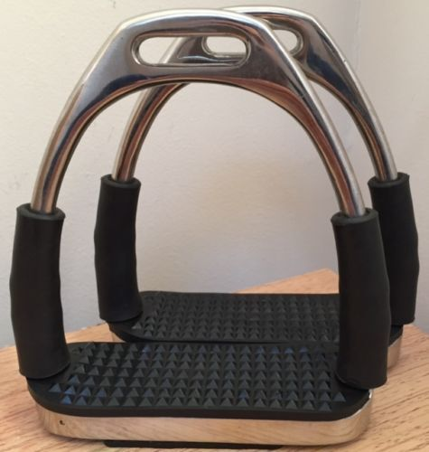 New Stirrups Iron Steel Flexi Safety Bendy Horse Riding Equestrian-Code SS.