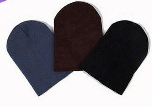 Long Beanie XXL Slouch Beanie Hat Knitted Long Many Colours 11in NEW