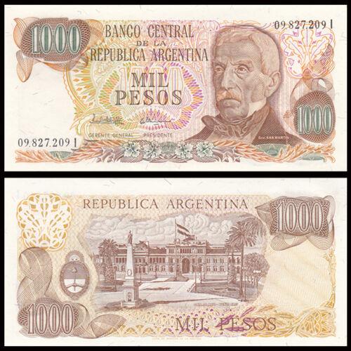 Banknotes UNC P-304d Original Argentina 1000 Pesos 1976-1983