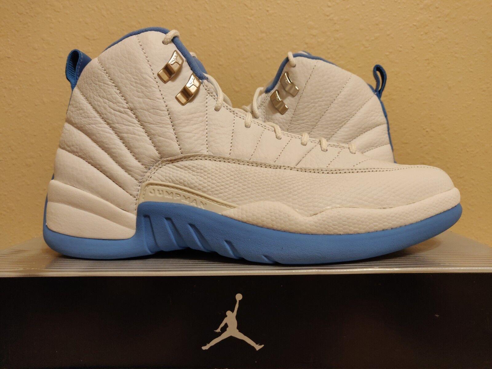 Nike Air Jordan XII 12 Retro White University bluee Silver Melo (136001-142) 10.5