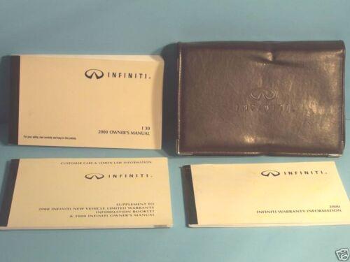 00 2000 Infiniti I30 owners manual