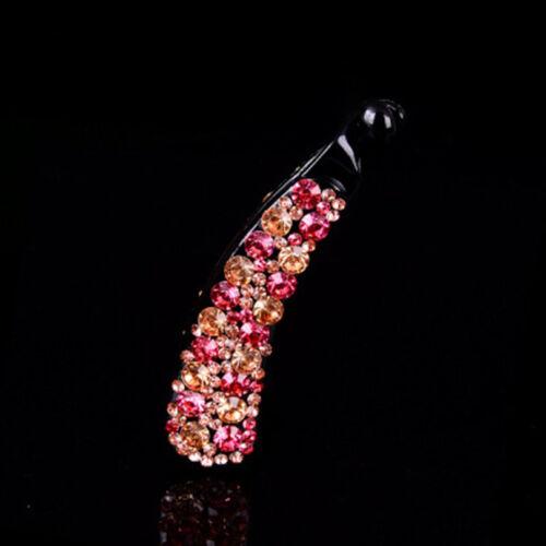 Crystal Banana Hairpin Women Fashion Hair Clip Barrette Diamond Hair Accessories