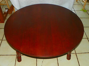 Pleasing Mid Century Round Cherry Coffee Table By Ohearn Ct103 Ebay Dailytribune Chair Design For Home Dailytribuneorg