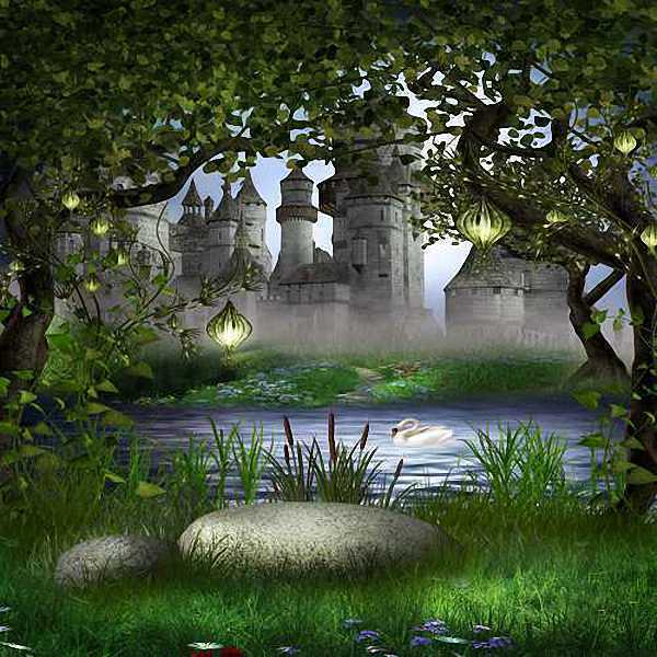 Magic Castle 10'x10' CP Backdrop Computer-painted Scenic Background ZJZ-097
