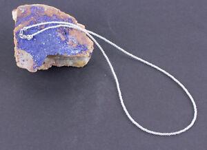 Weisse-Topas-Kette-Edelsteinkette-Kugel-Collier-halskette-925-Silber-Schmuck-44cm