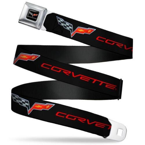 CORVETTE C6 Gürtel USA Seatbelt Style Edelstahl Sicherheitsgurt Logo CHEVROLET 8