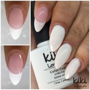 KIKI LONDON - FRENCH MANICURE WHITE PINK - TOP BASE - UV LED GEL NAIL POLISH- UK