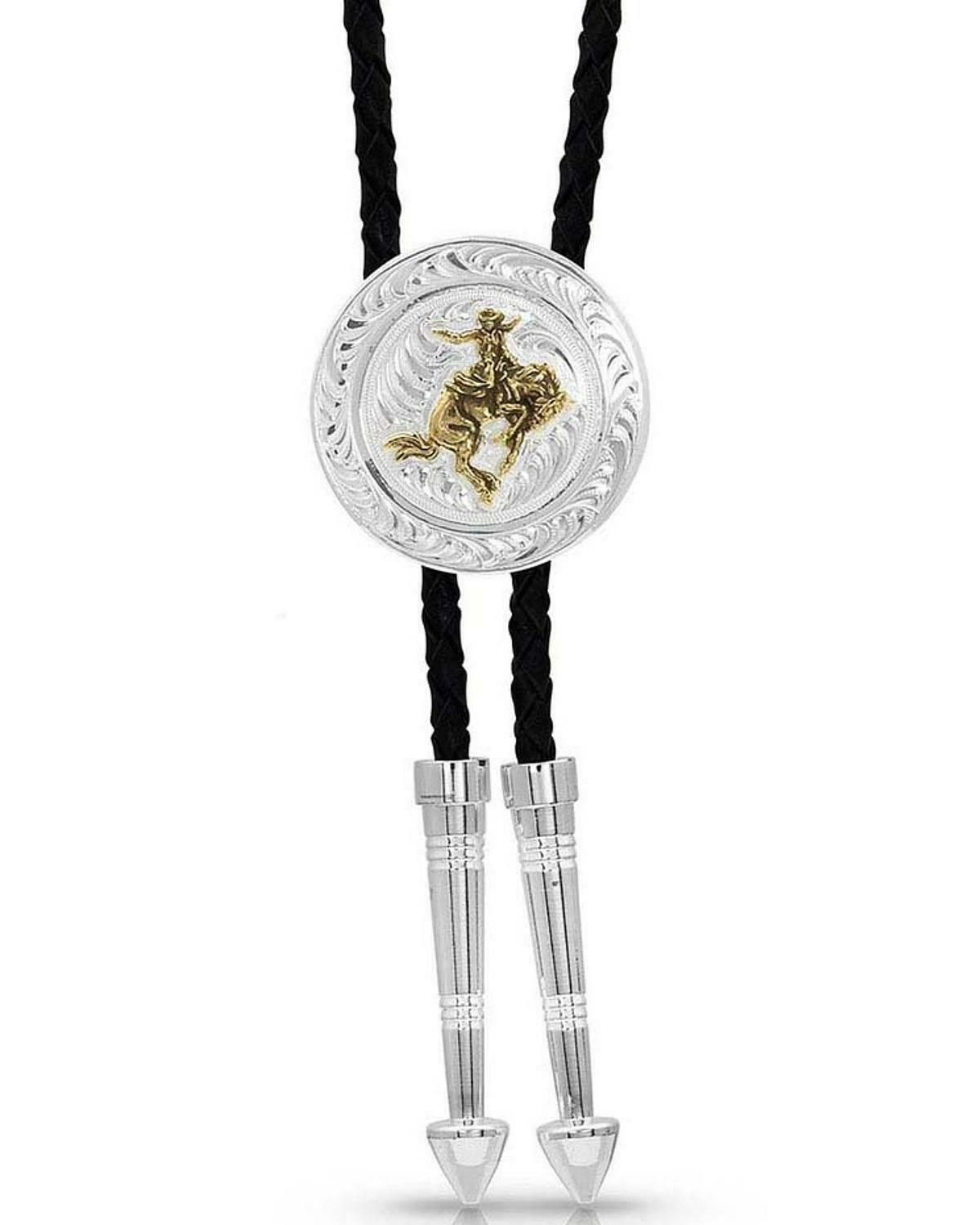 Montana Silversmiths Women's Art Of The Cowgirl Bolo Tie Silver