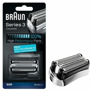 BRAUN-32S-SERIES-3-ELECTRIC-SHAVER-REPLACEMENT-FOIL-CASSETTE-CARTRIDGE-SILVER