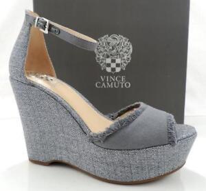 e1d40468fd9a Women s Shoes Vince Camuto TATCHEN Platform Wedge Sandals Grey Size ...