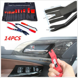 14Pcs Trim Prying Removal Tool Kit BONUS Clip Pliers for Car SUV Dash Door Audio
