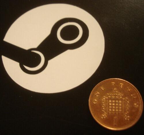Vapeur Logo Vinyle Cut Autocollant - ordinateur portable Gamer 50 mm PC petite Valve jeu