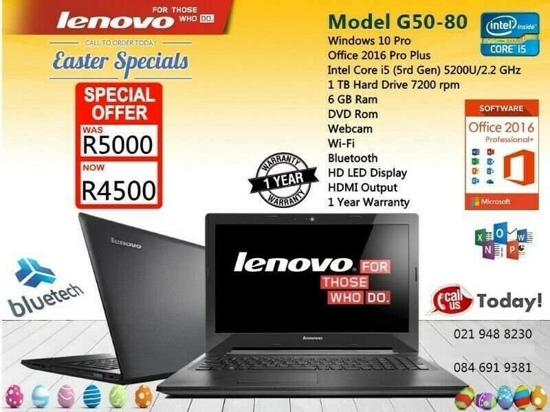 Demo LENOVO G50-80 LAPTOP, i5, 6GB Ram, 1TB HHD, Bluetech Computers ..