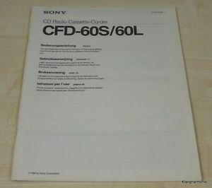 Sony CFD-60S / 60L Bedienungsanleitung (mehrsprachig, auch in Deutsch)