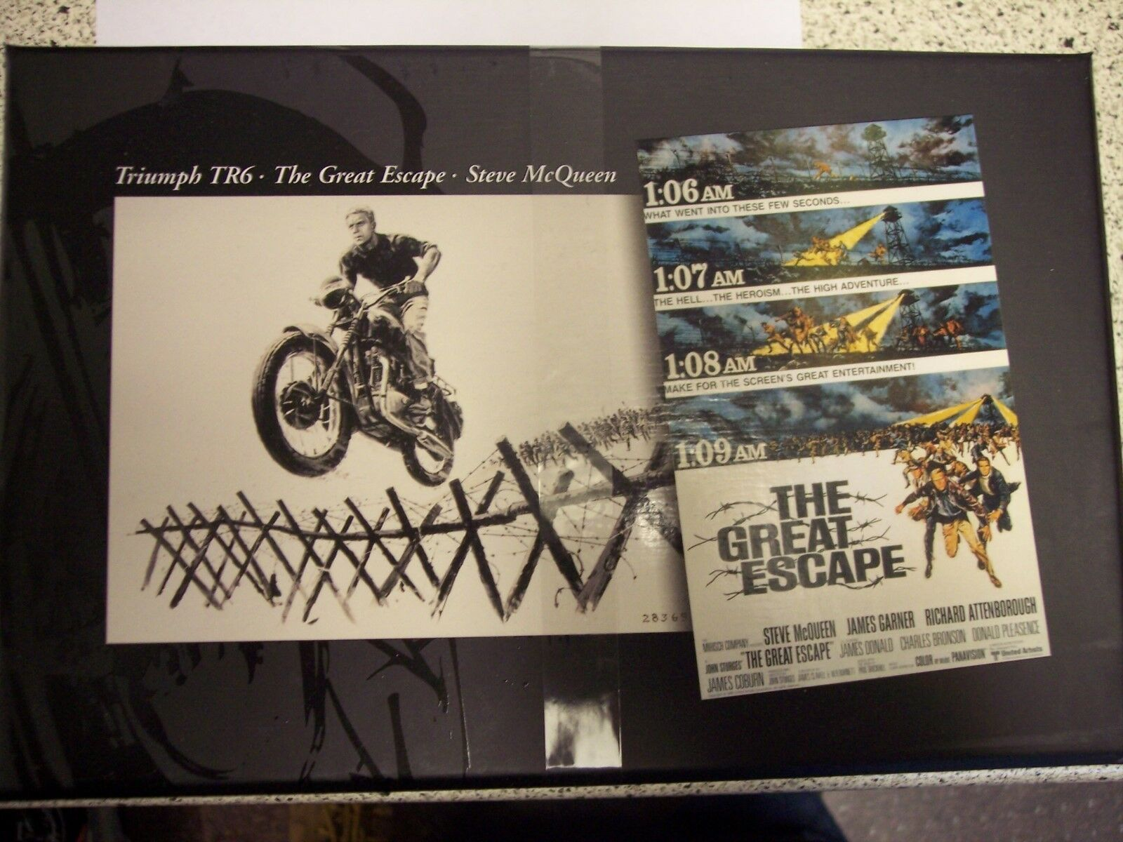 Triumph TR6. Steve McQueen  The Great Escape.   Minichamps 1 12 Diecast