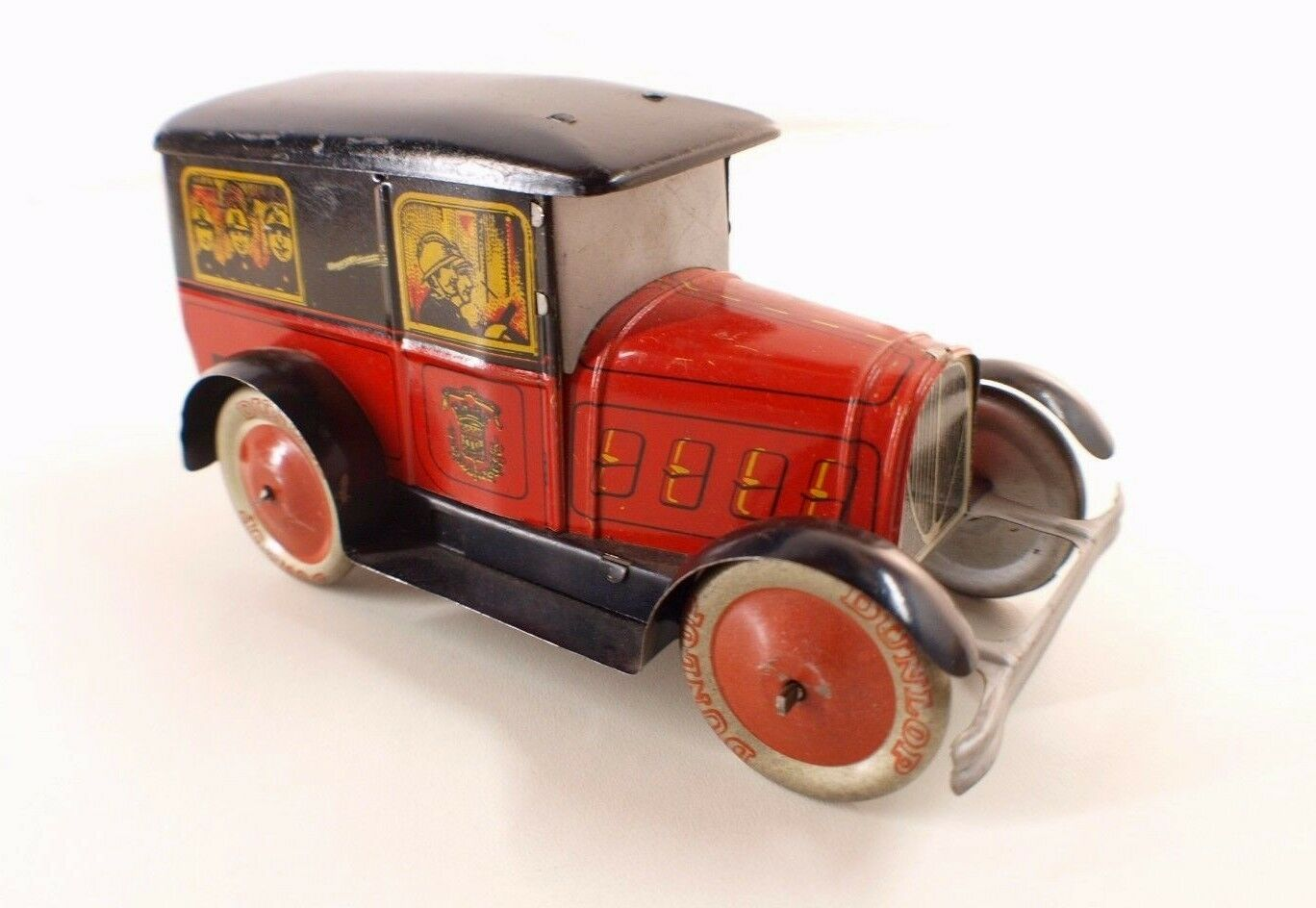 ereis Francia Furgone Pompieri Peugeot 201 Mettuttio Antico 17 cm Rara 1930