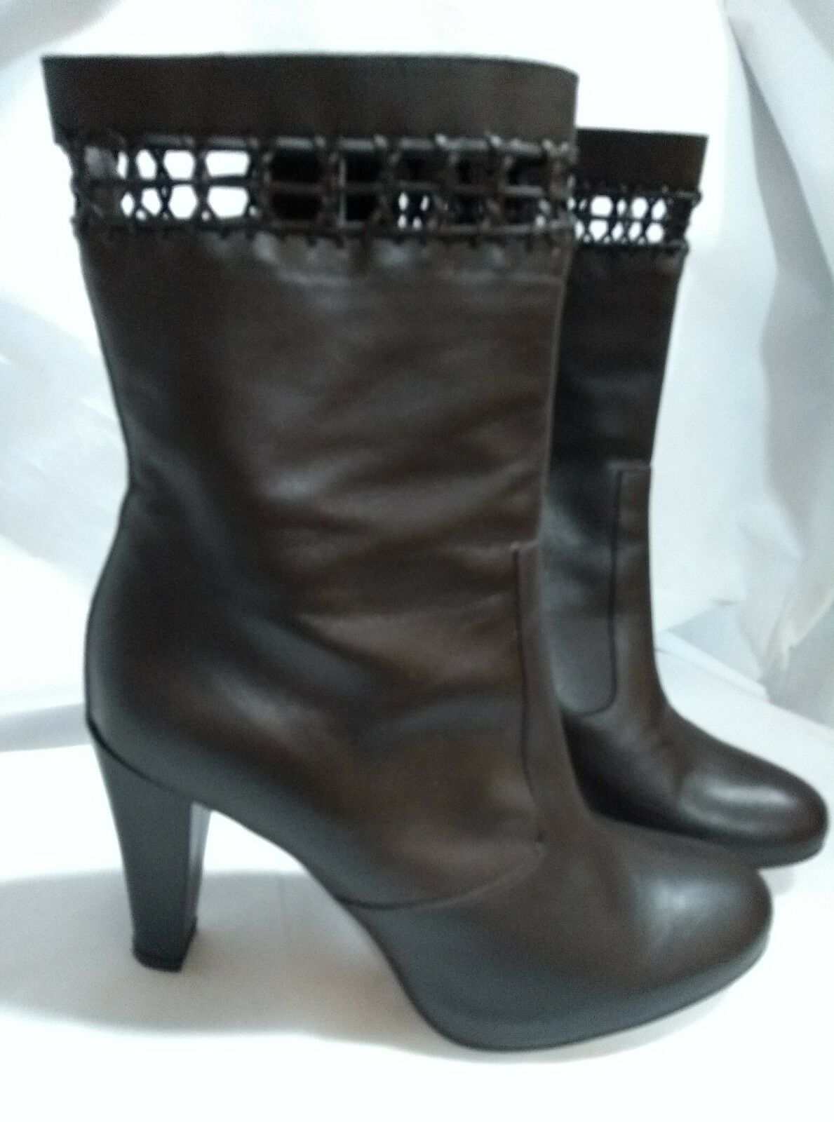 Marisa Rey Designer braun Full Leather Ankle Stiefel Heels Spain Größe 38 uk 5