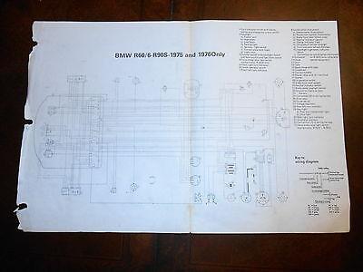 BMW OEM R60/6 R905 1975 1976 Dealer Wiring Diagram | eBay