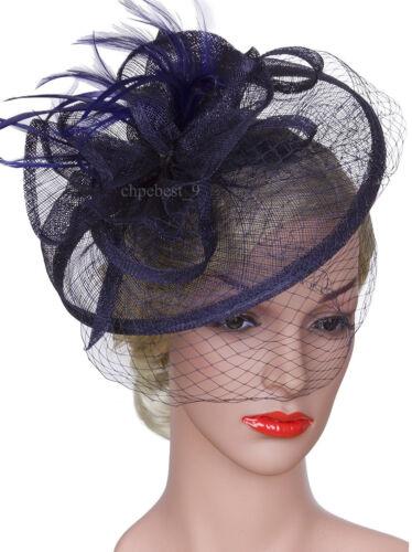 Fascinators Hair Clip Headband Hat Bowler Feather Veil Wedding Party  Ladies Day