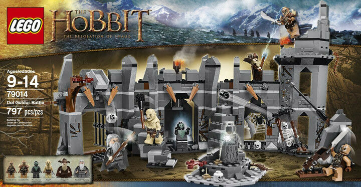 Lego 79014  The Hobbit Dol Guldur Battle - 6 Minifigs inc Azog & Radaghast