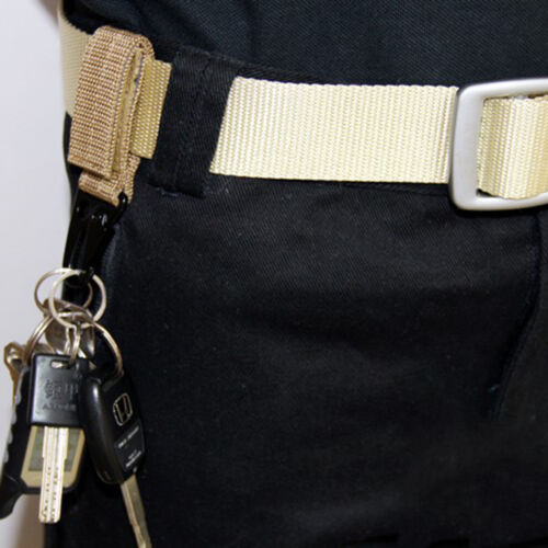Tactical Hanging Belt Carabiner KeyHook Webbing Buckle Strap Clip BackpackP/>YFWI