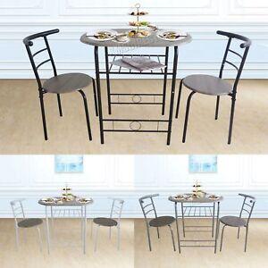 Westwood Compact Table De Salle A Manger Dejeuner Bar 2 Kit Chaise