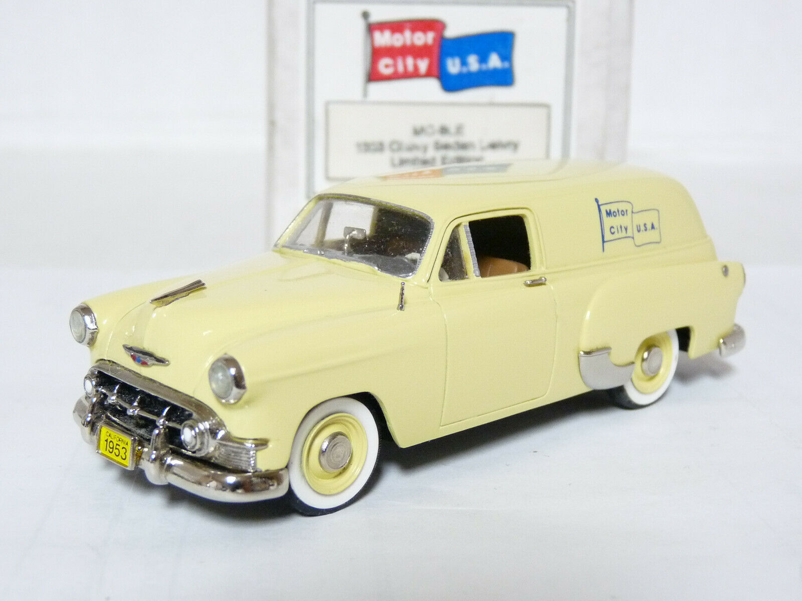 Motor City USA MC9LE 1 43 1953 Chevrolet Delivery Handmade Weiß Metal Model Car