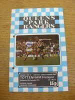 29/12/1976 Queens Park Rangers v Tottenham Hotspur  (Punched Holes)