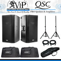 Qsc K12 + K12 Tote Bag + Stands 12 Active Pro Dj 2-way Powered Class-d (pair).