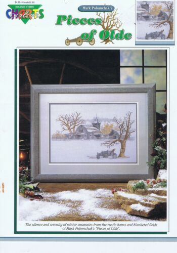 Pieces Of Olde Counted Cross Stitch Chart Rustic Barns and Fields