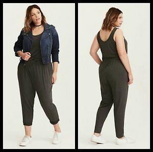 567f92d3104 Torrid Plus Size 1 1X XL Gray Jersey Knit Jumpsuit (40-96)