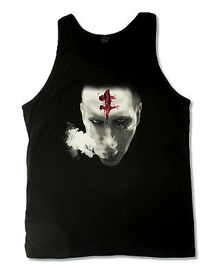 Marilyn Manson The Bloody Mark Face Mens Black Tank Top Shirt New Official