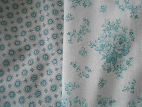 Greengate tissu de coton Audrey Comme neuf ou Ester MENTHE au mètre