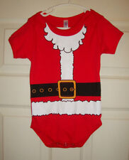 CALHOWN/1973/CANADA~boy's~SANTA/RED/ONE/PC/SNAP/BOTTOM/TEE! (12/18MO) BRAND/NEW!