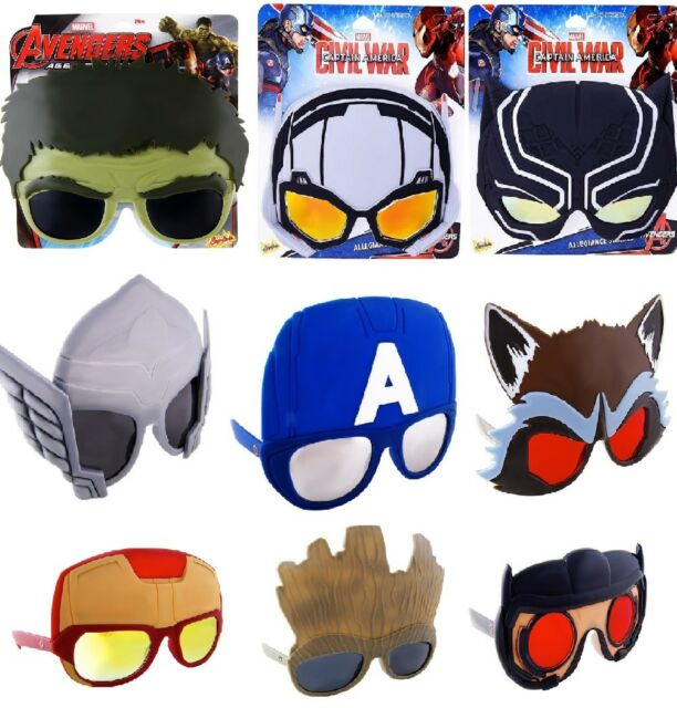 1cd16c7b05 Marvel Comics Sun-Staches (Choose Your Style) Shades Costume Accessory