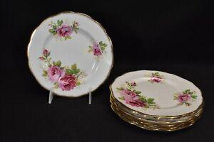 Royal-Albert-American-Beauty-Set-of-7-Salad-Plates