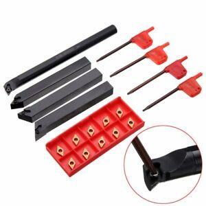 US-4pcs-12mm-Lathe-Turning-Tool-Holder-Boring-Bar-10-DCMT0702-Carbide-Inserts