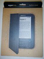 Amazon Kindle Leather Cover Black Fits 6 Display