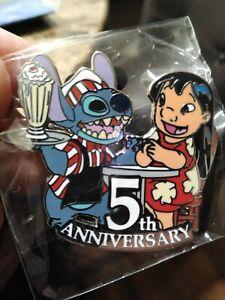 2010-Disney-DSF-5th-Anniversary-Lilo-amp-Stitch-LE-300-Pin-Rare